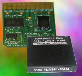 512K/512K RAM Flash card