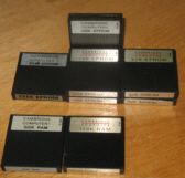 Different array of RAM and EPROM packs